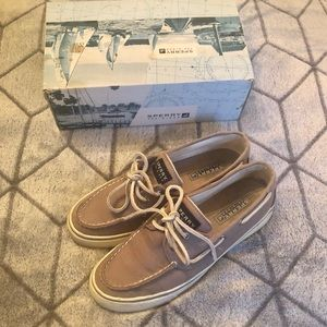 Sperry Top-Sider Gray Canvas Boat Shoes Like New